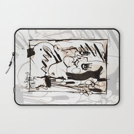 Old Flowers - b&w Laptop Sleeve