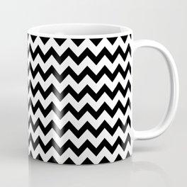 Black & White Zig Zag Pattern Coffee Mug