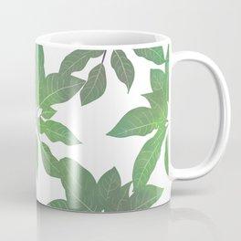 Elegant tropical Green leaves White design Coffee Mug