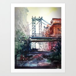 New York - Under the bridge Art Print