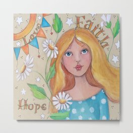 Faith, Hope, Love Metal Print