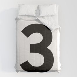 Number 3 (Black & White) Comforters