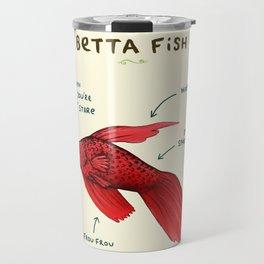 Anatomy of a Betta Fish Travel Mug