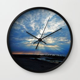 Parting of the Clouds Wall Clock