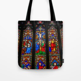 INRI Stained Glass Tote Bag