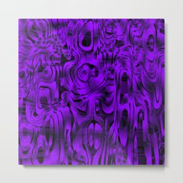 Bright smudges of magical infinity from violet lines and dark hypnotic fixation. Metal Print
