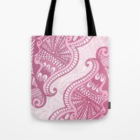 henna Tote Bags featuring Henna Pattern by ItsJessica