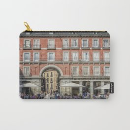 Relaxing cup in Plaza Mayor, Madrid Carry-All Pouch