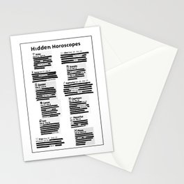 Hidden Horoscopes Stationery Cards