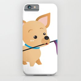 LGBT Gay Pride Flag Chihuahua iPhone Case