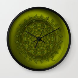 Positive thoughts - Jewel Mandala Wall Clock