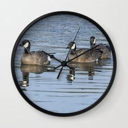 Three Cackling Geese Wall Clock