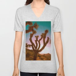 Joshua Tree Desert Sunset Unisex V-Neck