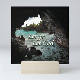 Let Go, Let God  - Sea Cave Mini Art Print