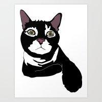 Alaster the Green Eyed Cat Art Print