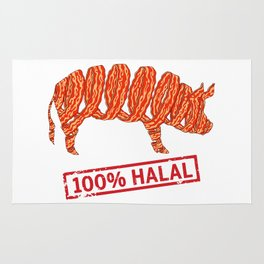 Halal Bacon - Islamophobia Rug
