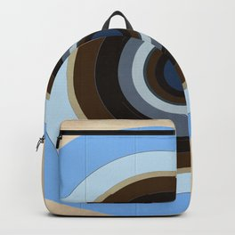 blue and brown circles Backpack