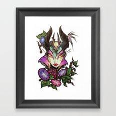 Malefica Glam Framed Art Print