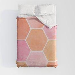 Desert Mood Hexagon Print Duvet Cover
