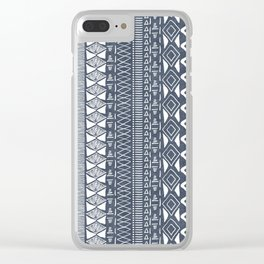 Adobe in Navy Blue and White Clear iPhone Case