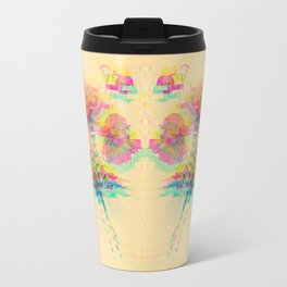 Botanical Flower Glitch Travel Mug