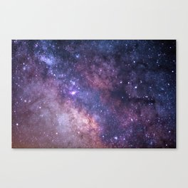 Purple Galaxy Star Travel Canvas Print