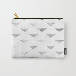 Watercolour Triangles BW Carry-All Pouch