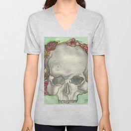 Skulls and Roses Unisex V-Neck