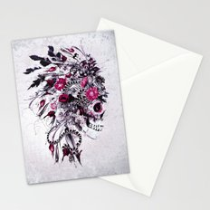 Skull Red Stationery Cards