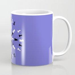 Chess Piece Design - Black and White Coffee Mug