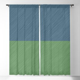 Abstract blue, green art - a simple striped pattern Blackout Curtain