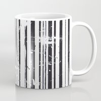 stripe Mugs featuring Stripe by Moe Notsu
