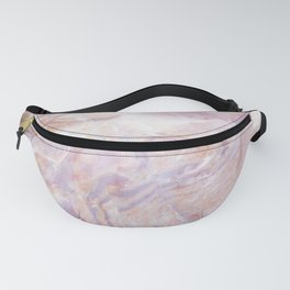 Pink Cut Gemstone Marble Fanny Pack