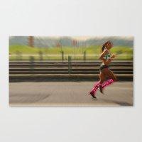 run Canvas Prints featuring Run by Sébastien BOUVIER