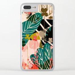 Butterfly flower stalk Clear iPhone Case