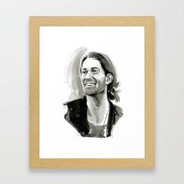 portrait of laughing man Framed Art Print