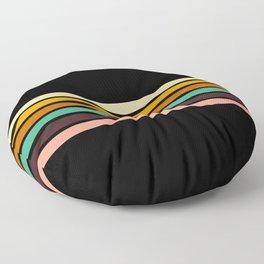 Minimal Retro lines of the Past Floor Pillow