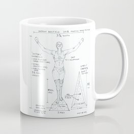 Victory Drawing, Transitions through Triathlon Coffee Mug