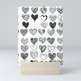 love in blackand white Mini Art Print