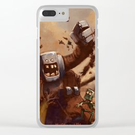 Vacant Planet: Robot Attack! Clear iPhone Case