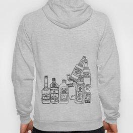 Alcohol Bottles (White) Hoody