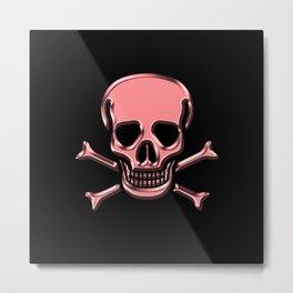 Jolly Roger Pink Metal Print