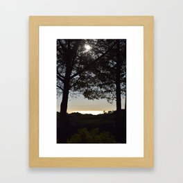 The Ocean Naturally Glows With Gold Hues In Certain Light Unfiltered Seascape Framed Art Print