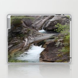 Norwegian waterfall photo, landscape photos, pothole, Instant download, Fine art gifts  Laptop & iPad Skin