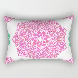 pink mandala pattern Rectangular Pillow
