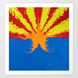 Arizona Flag Fluid Art Style 2 Art Print