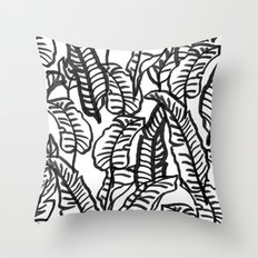 Banana Jungle Throw Pillow