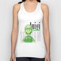 luigi Tank Tops featuring Luigi by Thomas Official