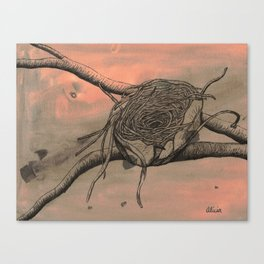 Empty Nest Ink Drawing Canvas Print