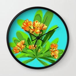 Bright Clivia Wall Clock
